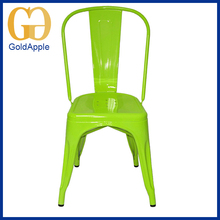 Wholesale new style metal fluorescence green Powder Coating ergonomic dining room chair