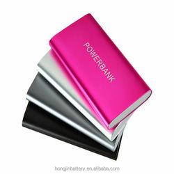 wholesale 5 colors portable universal mobile power bank charger 6000mAh