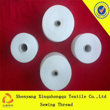 100% spun polyester sewing thread 40/2 in raw white