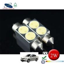 36/39/41mm 5050,led car light 2 LED 2 smd Dome 2 w LED Festoon Light Bulbs
