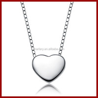 Fashion Full Texture 925 Sterling Silver Love Heart Necklace Jewelry Alibaba Express 2015