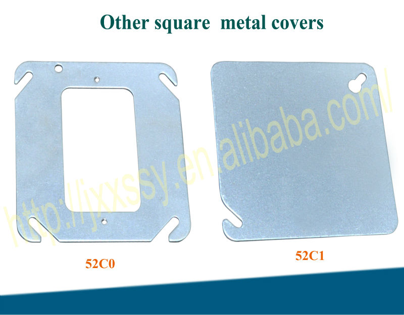 2014HOT Galvanized steel square electrical meter box cover