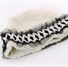 2015 Discount Brand Stock Items Small Order Custom Handmade Crochet Lace Baby Girl Beanie Hat