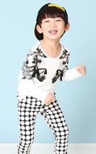 Smartin marca de ropa de niños de manga larga camisa t para 3-8 años de niño
