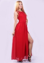 New fashion women party red dress