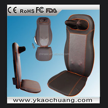 2015 electric heating back massager, shiatsu massage cushion with ISO,CE and RoHS