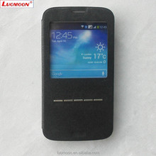 Cheap Universal Leather Phone Case with Display for S4 S5