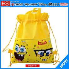 2014 wholesale trendy cute drawstring backpack bag for kids