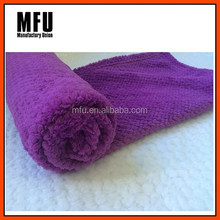 MFU Soft warm Corn grain pattern blanket Deep Purple