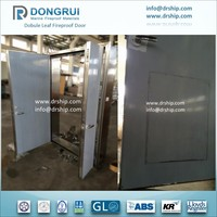 Marine Interior A60 Double Leaf Fire Rated Steel Door For Shipbuliding