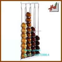 2015 Hot Sale Nespresso coffee capsule holder/household coffee mate display rack /Nestle coffee Carousel for hotel HCRC40H