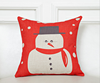 2015 China factories supply alibaba sale fashion soft Christmas 100% cotton customize printed red square pillow case