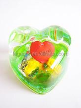 Acrylic Heart Shape Liquid Snow Globe, Heart Glass Pen Holder