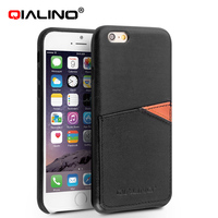 High quality genuine leather case with card slot for iphone6s