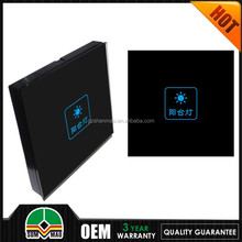 Australia/US Standard Dimmer Touch Light Switch for 1 Gang black Glass Electrical