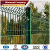 plastic coated iron wire welded fence panel with square post 60x60mm