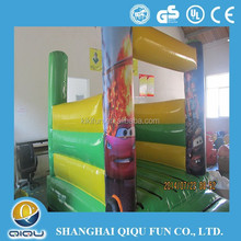 deluxe durable green cars inflatable combo bouncer for sale