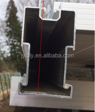 Aluminum profile rail for solar panel mounting and solar panel mounting rails