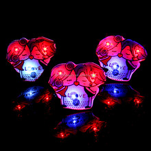 2016 hot sale promotional gifts Flashing LED Light Up Brooch Pins for Valentine's Day