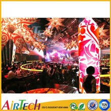China Wedding hall decoration lighting column, commercial inflatable cone, inflatable lighting column
