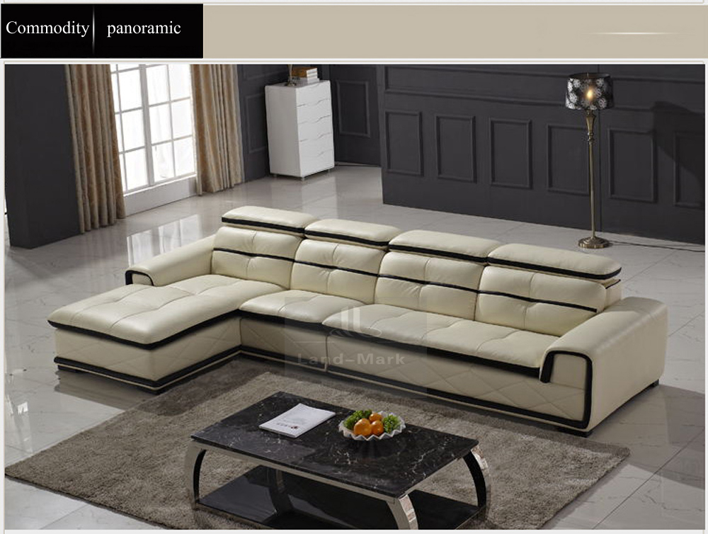 Modern leather corner living room sofa set furniture 1722 buy modern style leather sofa living - Modern living room furniture set ...