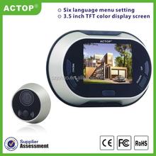 Night vision fpv camera 3.5'' video peephole, video peephole door camera, video door viewer