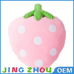 custom embroidered pillows,stuffed fruit strawberry pillow,plush strawberry pillow