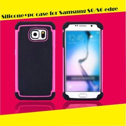 2013 new arrival 3 in 1 mobile phone case for samsung galaxy s6 factory wholesale mobile phone case