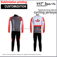 cycling suit Custom design sublimation printing long sleeve Cycling Clothing Set