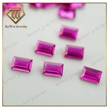 best selling imports rose red rectangle shape emerald cz stone