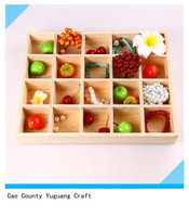 2015 new design high quality handmade unfinished wooden tray with compartment