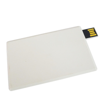 white credit card shaped usb pen drive