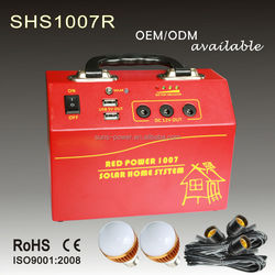 Hot sale portable home lighting solar power kits 10W 20W 30W with solar panel and solar radio