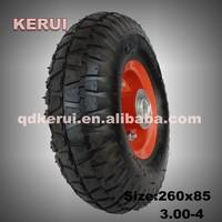 garden cart tire tubes, luggage cart wheel 3.00-4 3.25-8