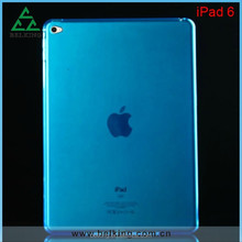Matte Cover Soft TPU Case For iPad Air2, For iPad 6 Back Cover Gel Rubber TPU Case
