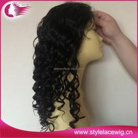 Wholesale good quality virgin human hair $100 peruvian full lace wig