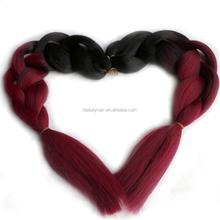 "Fashion Ombre/Balayage Synthetic Marley Box Hair Braiding Micro Yaki Straight 5pcs/lot 24"" 500g/lot High Temperature Braids"