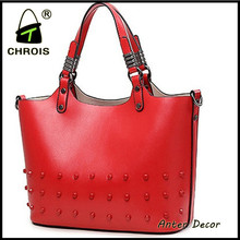 2015 new bags factory lady genuine leather hand bag