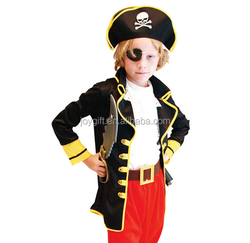 luxury child cosplay costume pirates with eye pat