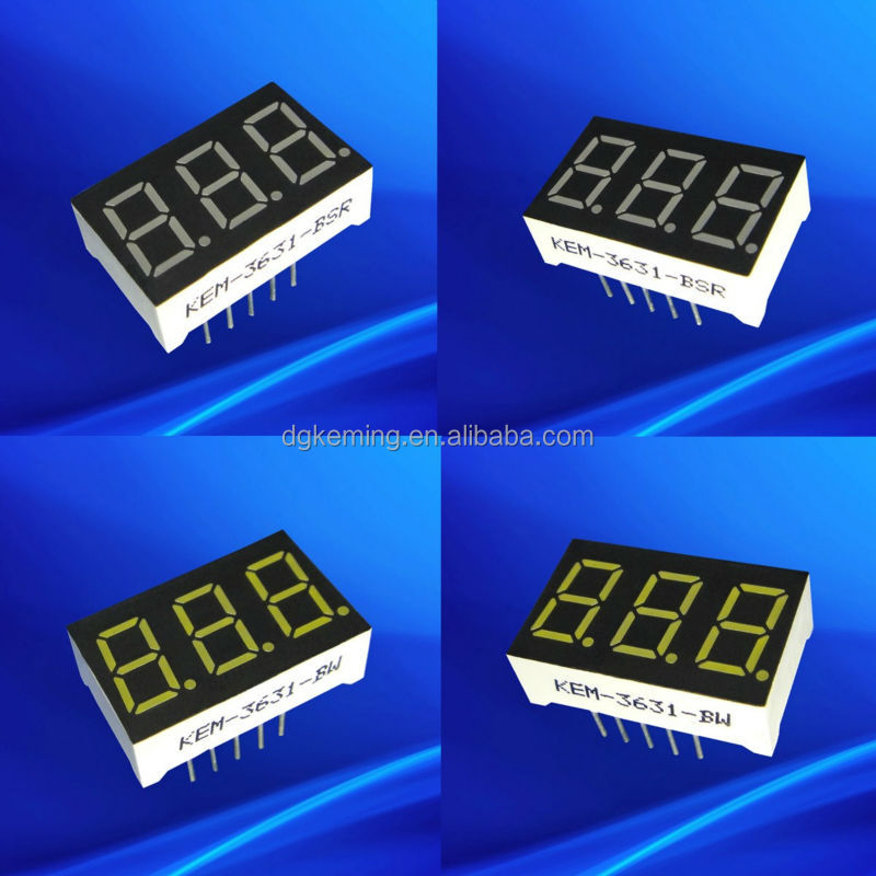 Mini led display white color 0.36 inch 7 segment led display 3 digits.jpg