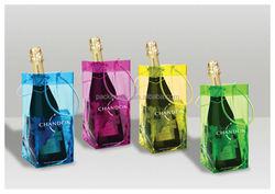 No breaking strong eco-friendly custom handle top PVC wine bag