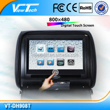 China 9'' touch screen car headrest dvd with usb sd manufacturer