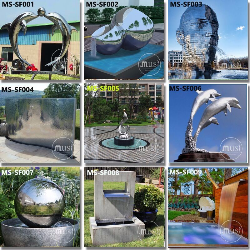 Metal Craft Water Feature Stainless Steel Fountain.jpg