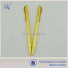 Luxury Design Cheap Slim Golden Pen Metal Ballpoint Pen