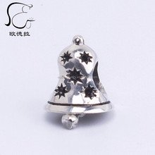 chrismas bangle christian 925 silver bell pendant for christmas