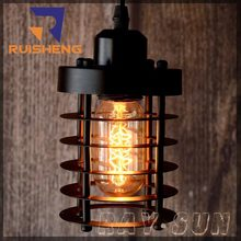 Edison Bulb Filament Chandelier Antique Style Pendant Artcraft Lighting Iron Cage Hanging Lamp