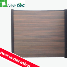 New generation wpc garden fence panels, plastic garden fence panels