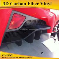 Air Free Car Vinyl Wrap Sticker 3D Carbon Fiber hot sale