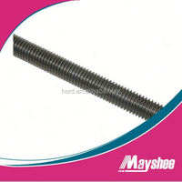 black zinc surface all thread rod