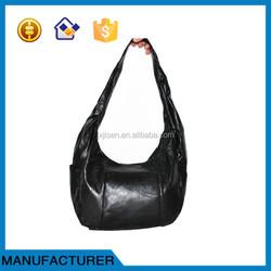 Ladies' handbag patchwork Genuine Leather tote bag from factory